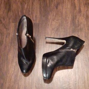 Michael Kors double zipper booty heels